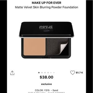MAKEUP FOREVER MATTE VELVET SKIN POWDER FOUNDATION
